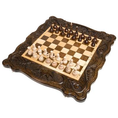 Шахматы + нарды резные Корона 50, Haleyan