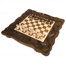 Шахматы + нарды резные Корона 60, Haleyan