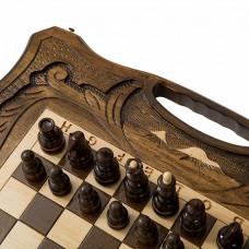 Шахматы резные с араратом, ручкой и ложементом 40, Haleyan