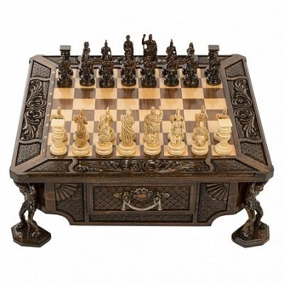 Шахматы резные в ларце Атлант, Haleyan