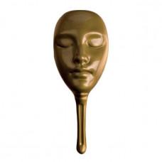Маска для мафии пластиковая золотая