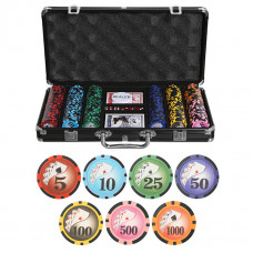 Набор для покера Royal Flush Black на 300 фишек
