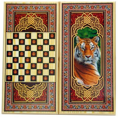 Нарды + Шашки Тигр малые