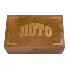 Русское Лото Классическое в темном деревянном боксе
