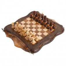 Шахматы + Нарды резные Арарат 30, Ohanyan