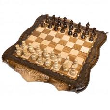 Шахматы + Нарды резные Арарат с бронзой 50, Ohanyan