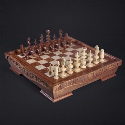 Шахматы Режанс красное дерево