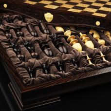 Шахматы Режанс, самшит венге
