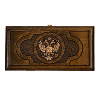 """Нарды резные """"Герб РФ 3"""" 30, Mirzoyan"""