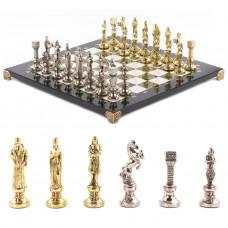 Шахматы Ренесанс 36х36 см мрамор змеевик металл