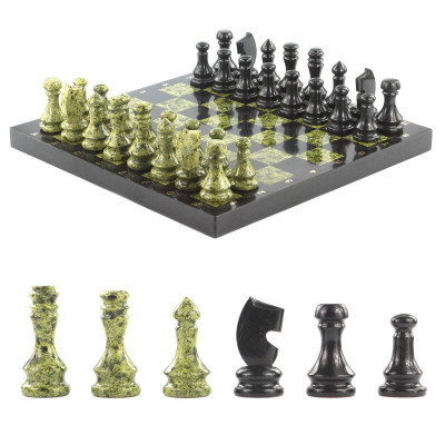 Шахматы доска 380х380 мм змеевик 12000 гр