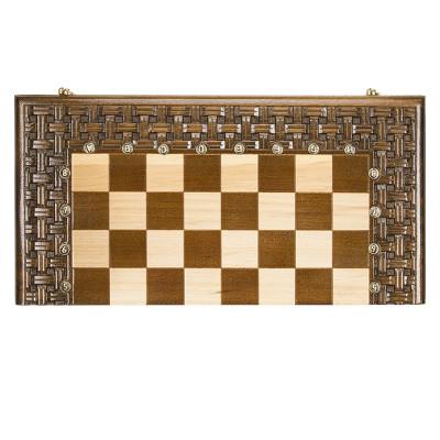 """Шахматы + нарды резные """"Армянский Орнамент"""" 50, Haleyan"""