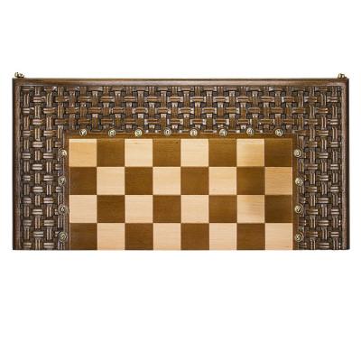 """Шахматы + нарды резные """"Армянский Орнамент"""" 60, Haleyan"""