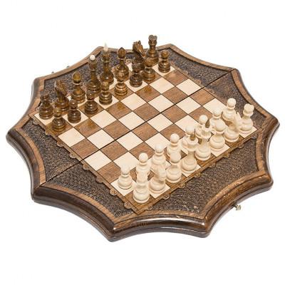 """Шахматы резные """"Декагон"""" 30, Ohanyan"""