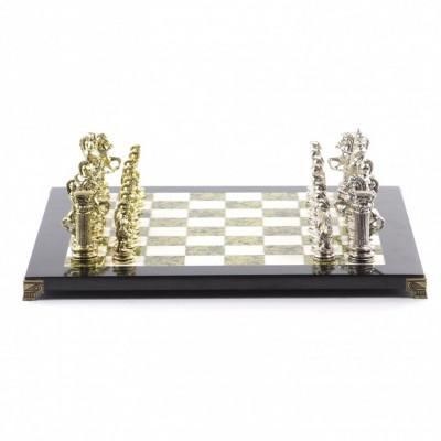 Шахматы подарочные Римская империя змеевик мрамор большие