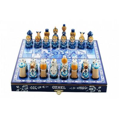 Шахматы подарочные Гжель