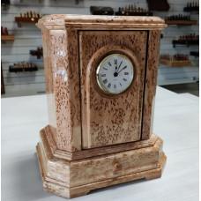 Шкатулка-часы авторские из карельской березы трансформируемая