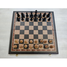 Шахматы турнирные с утяжелением черное дерево, дуб