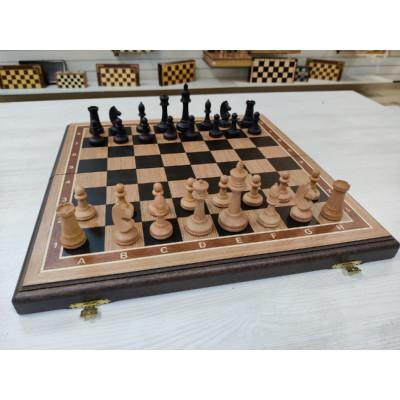 Шахматы турнирные из дуба и бука фигуры с утяжелением
