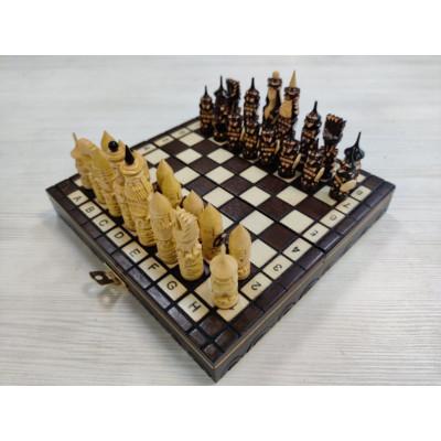 Шахматы резные Ледовая битва мини