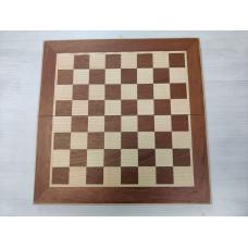 Шахматы складные из бука и красного дерева эконом малые