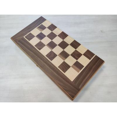 Шахматная доска складная из ореха эконом большая