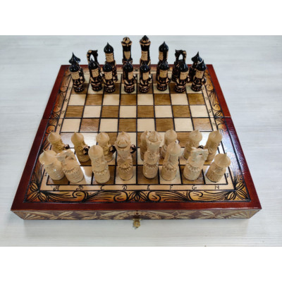 Шахматы ручной работы Ледовая битва большие