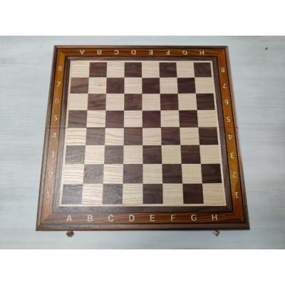 Шахматная доска Турнир орех без фигур большая