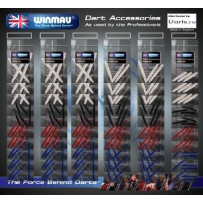 Набор из 60-ти комплектов нейлоновых хвостовиков Winmau (ассортимент)