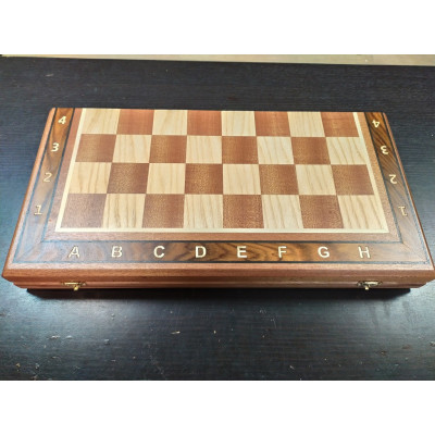 Шахматная доска Турнир красное дерево 50 см