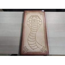 Нарды Змея большие с резьбой