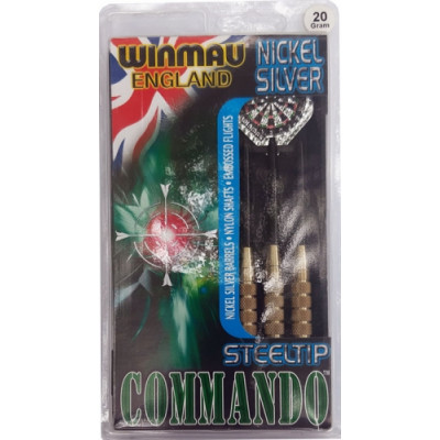 Дротики Winmau Nickel Silver Commando steeltip 20gr