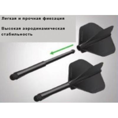 Хвостовики Winmau серии Stealth (Medium) черного цвета