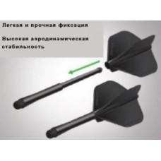 Хвостовики Winmau серии Stealth (Short) черного цвета