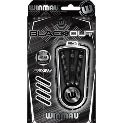 Дротики Winmau Blackout steeltip 28gr (профессиональный уровень)
