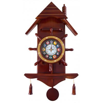 """Часы настенные """"Избушка"""" 33 см х 66 см, деревянные"""