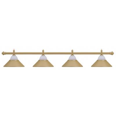 Лампа на четыре плафона «Jazz» (матово-бронзовая штанга, матово-бронзовый плафон D38см)