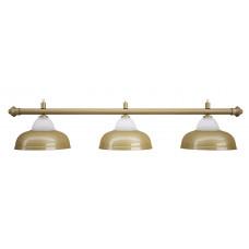 Лампа на три плафона «Crown» (матово-бронзовая штанга, матово-бронзовый плафон D38см)