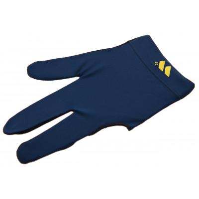 Перчатка бильярдная «WB» (черно-синяя), защита от скольжения