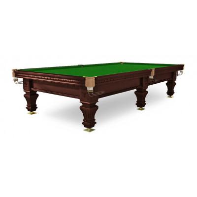 Бильярдный стол для русского бильярда «Hardy» 9 ф (черный орех, 6 ног, плита 38 мм)