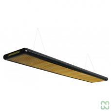 Лампа плоская люминесцентная «Longoni Nautilus» (черная, золотистый отражатель, 205x31x6см)