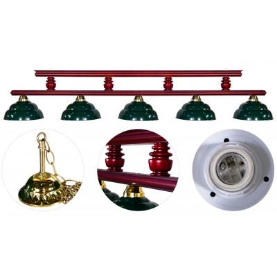 Лампа на пять плафонов «Turnus II» (вишня)