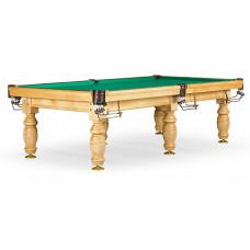 Бильярдный стол для русского бильярда «Дебют» 10 ф (светлый, плита 25 мм, 6 ног)