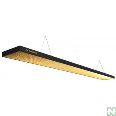 Лампа плоская светодиодная «Longoni Compact» (черная, золотистый отражатель, 247х31х6см)