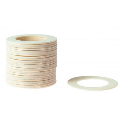 Кольцо пластиковое для шафта упаковка 25 шт. (белое, 0.8мм, н/д 25мм, в/д 16мм)
