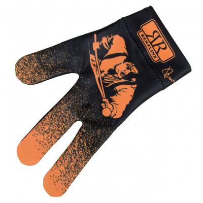 Перчатка бильярдная «Longoni Billiard Player Orange» (черно-оранжевая)