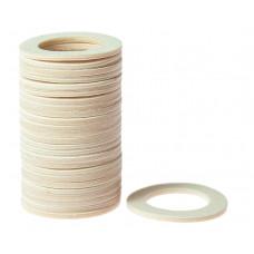 Кольцо пластиковое для шафта упаковка 25 шт. (белое, 1.6мм, н/д 25мм, в/д 16мм)