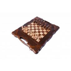 Шахматы + нарды резные 139 с ручкой 30, Haleyan