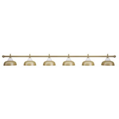 Лампа на шесть плафонов «Crown» (матово-бронзовая штанга, матово-бронзовый плафон D38см)