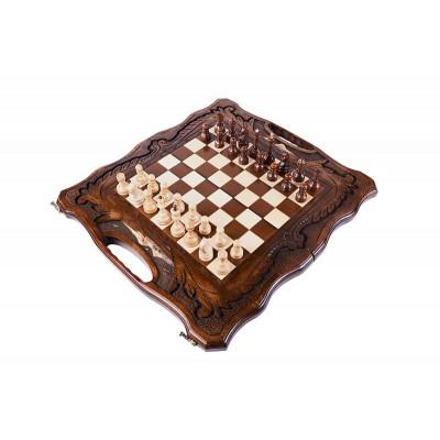Шахматы резные с араратом ручкой и ложементом 50  Haleyan